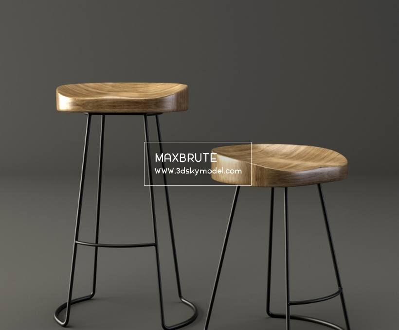 The Tractor Bar&Dining Stool Chair ghế 3dskymodel -Download