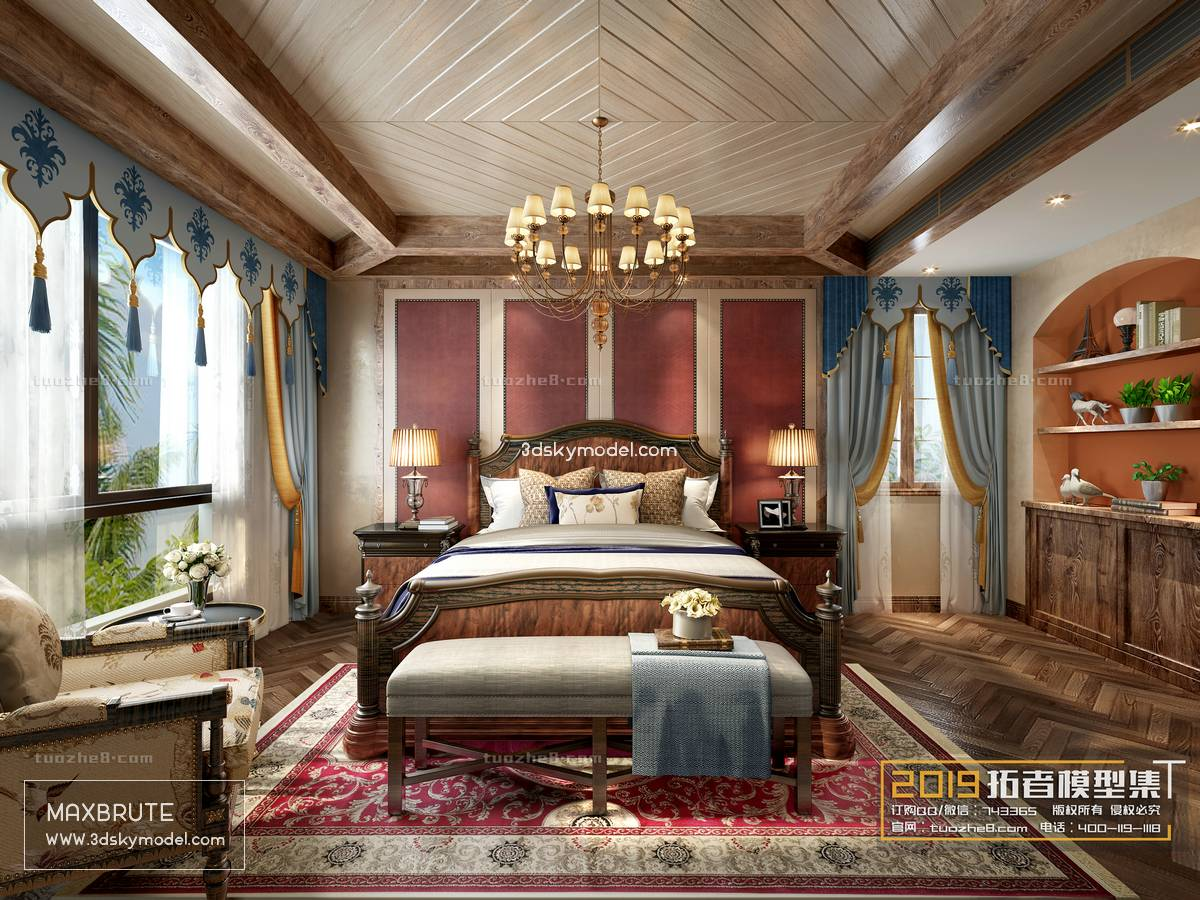 Sell Bedroom Nordic & Classic style 2019 3dsmax