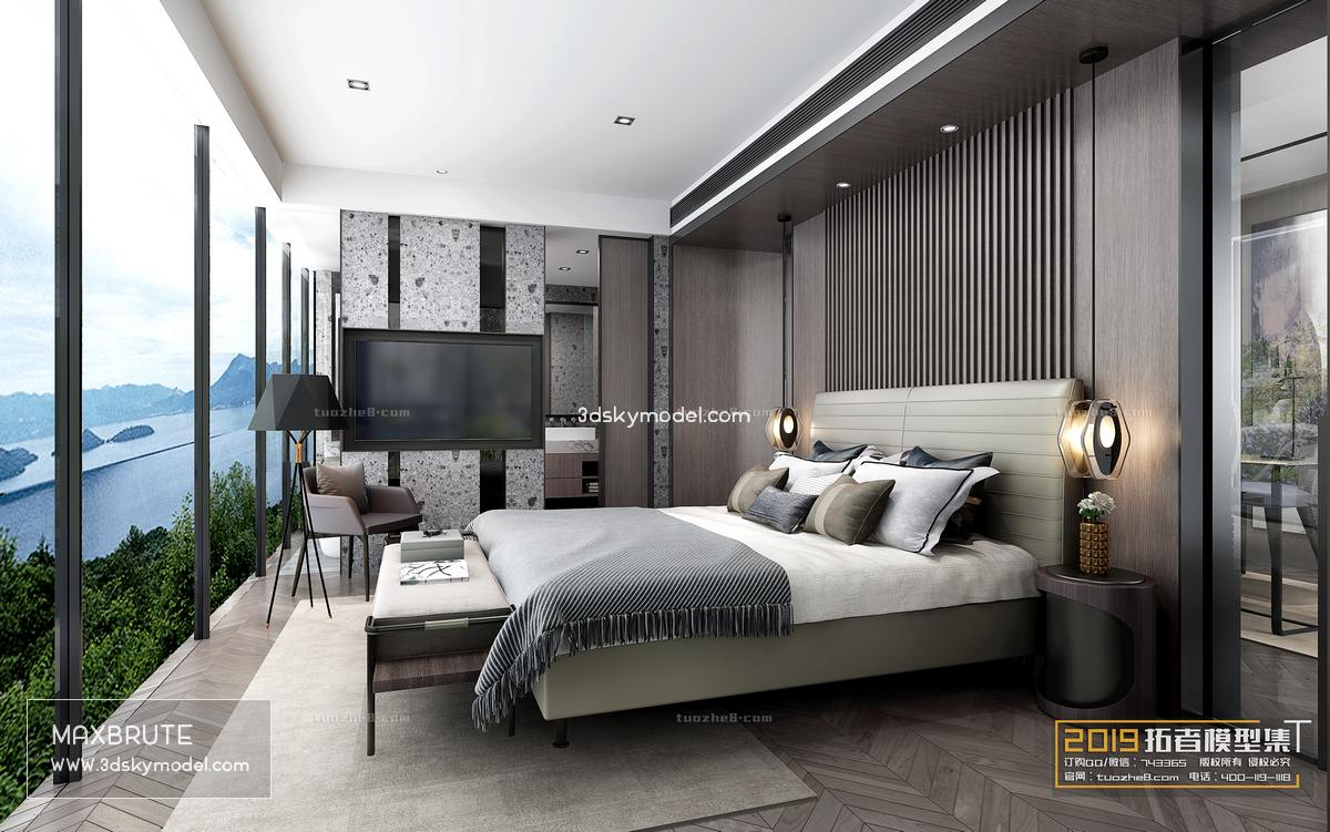 Sell Bedroom modern style 138 2019 3dsmax