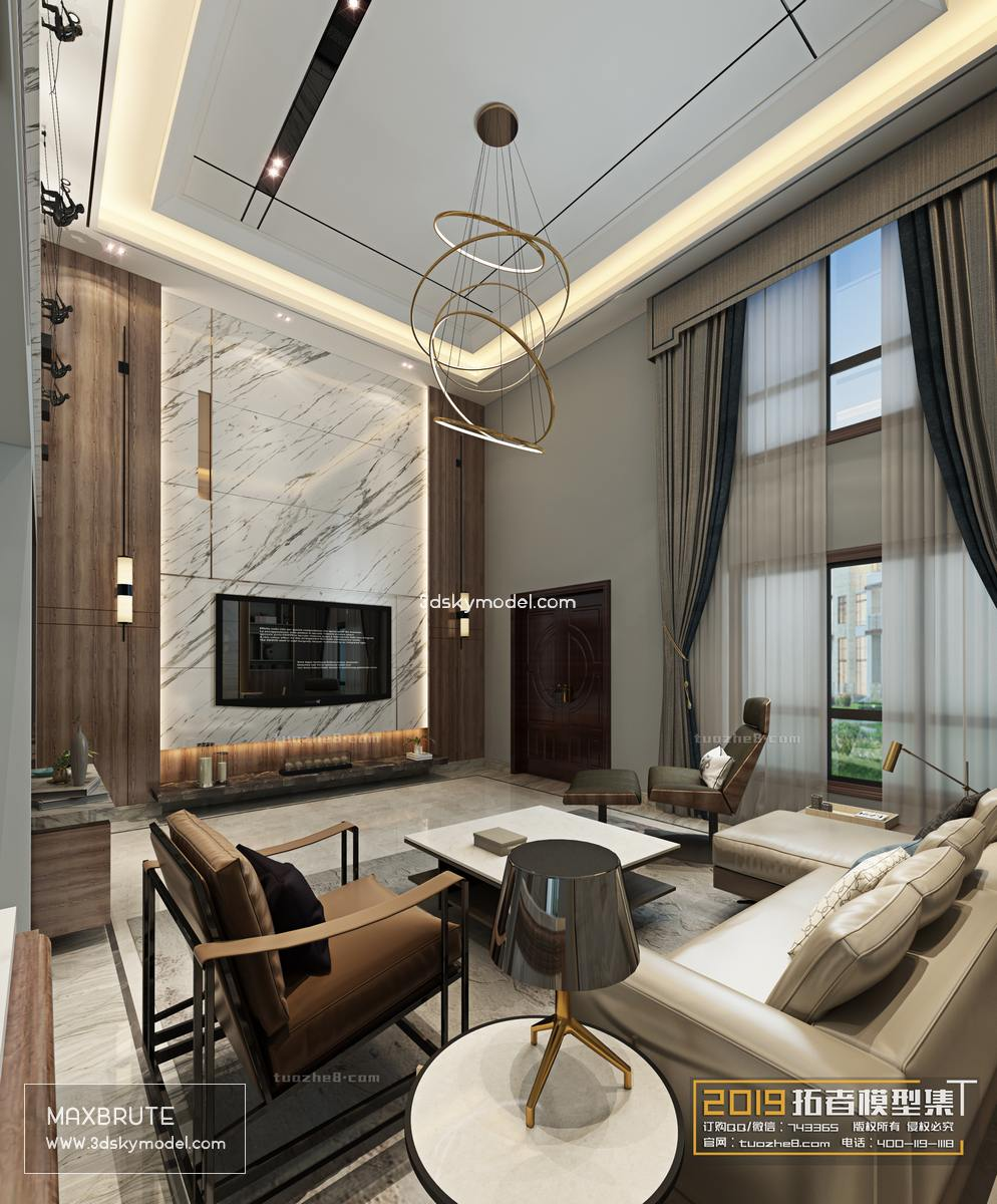 Sell Living room modern style vol2 -118 3dsmax